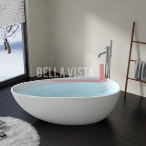 Solid Surface Bath Oval Shape Matt 1670mm