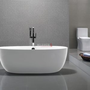 Solid Surface Bath Oval Shape Matt 1780mm