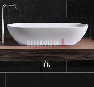 Solid Surface Basin Oval Shape Gloss