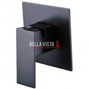 bella vista Shower Bath Mixer Deko Square Black
