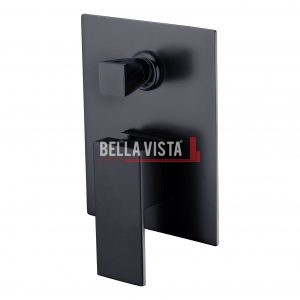bella vista Shower Bath Mixer with Diverter Deko Square Black