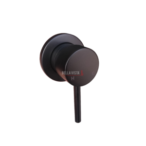 Raco Black Round Shower Mixer with Small Backing Plate