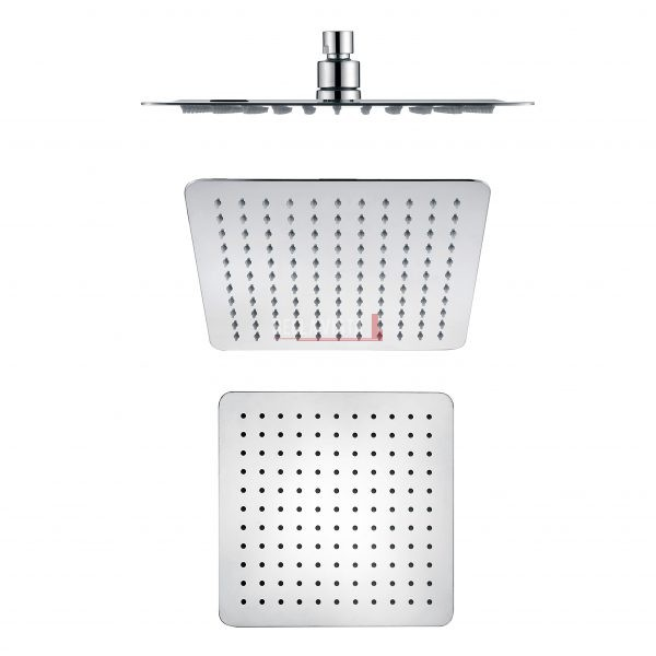 Shower Head Rainfall Stainless - Square - 250mm or 300mm or 400mm