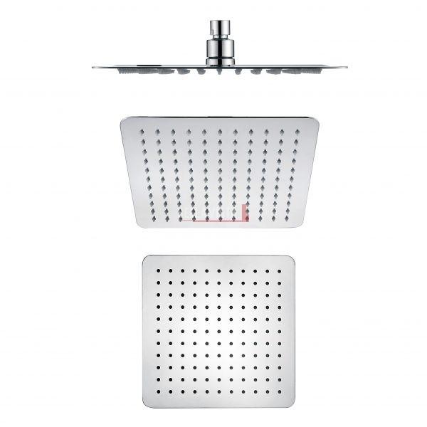 bella vista Shower Head Rainfall Stainless Square 250mm / 300mm / 400mm