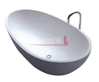 Solid Surface Bath Oval Shape Gloss 1700mm