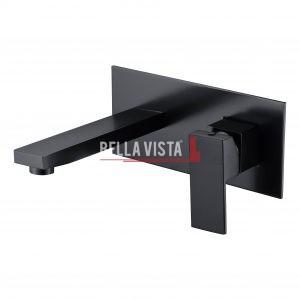 bella vista Mixer and Spout Combo Deko Square Black