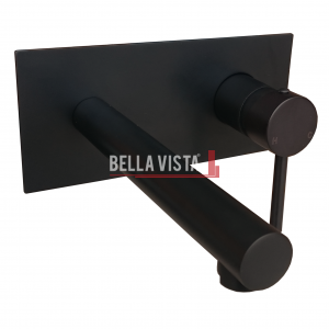 Bella Vista Mixer and Spout Combo Raco Round Black