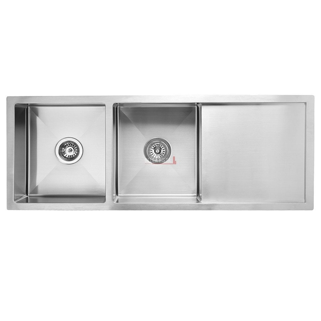Double Bowl with Drainboard Stainless Kitchen Sink
