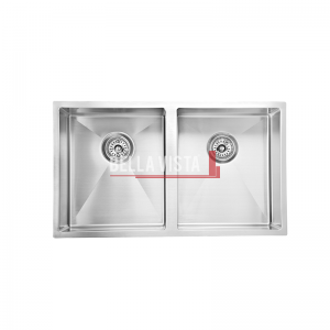 SNK 754 DBL_Web bella vista Double Bowl Stainless Steel Kitchen Sink