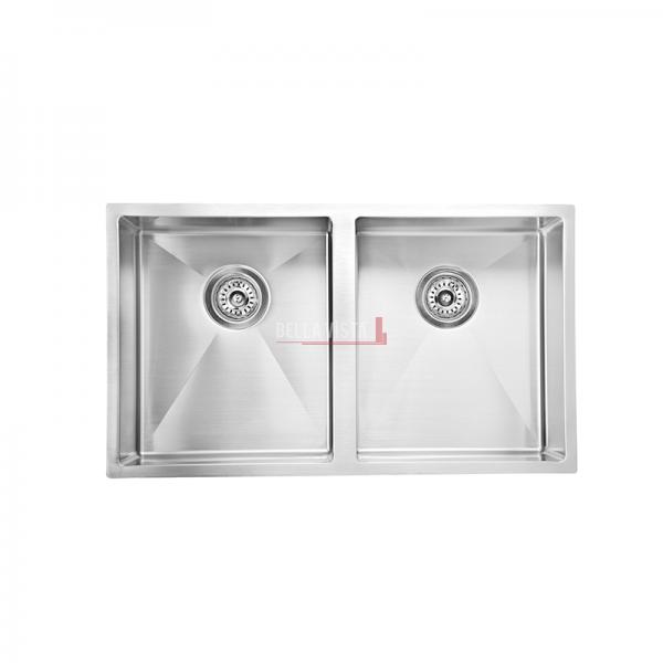 SNK 754 DBL_Web bella vista Double Bowl Stainless Steel Kitchen Sink