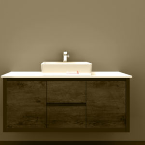 BV-8120T Clarissa Wall Hung Vanity 1200mm American Oak Stone Top