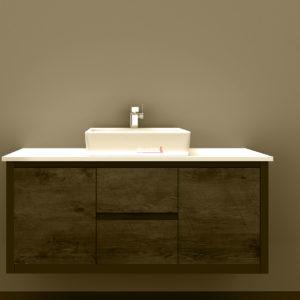 Clarissa Wall Hung Vanity 1200mm American Oak Stone Top
