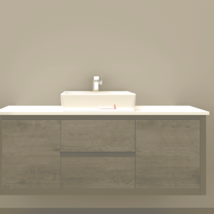 BV-8180ST Clarissa Wall Hung Vanity 1800mm American Oak Stone Top Single Basin
