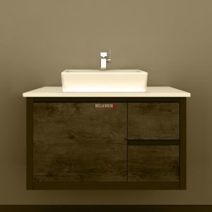 Clarissa Wall Hung Vanity 900mm American Oak Stone Top