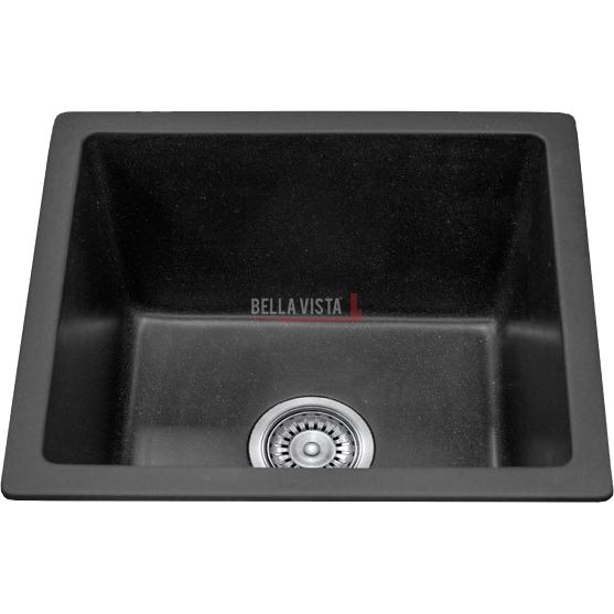 S4641-B Single Bowl Black Kitchen Sink 460 x 410mm