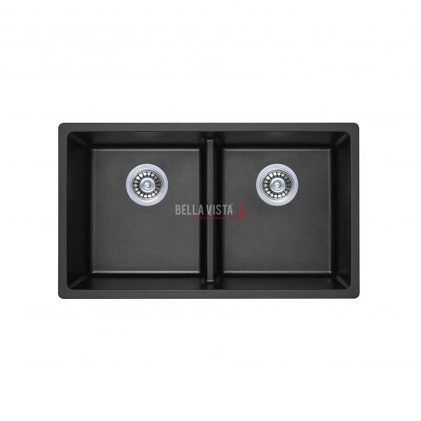 S7946DB-B Double Bowl Black Kitchen Sink 790 x 460mm