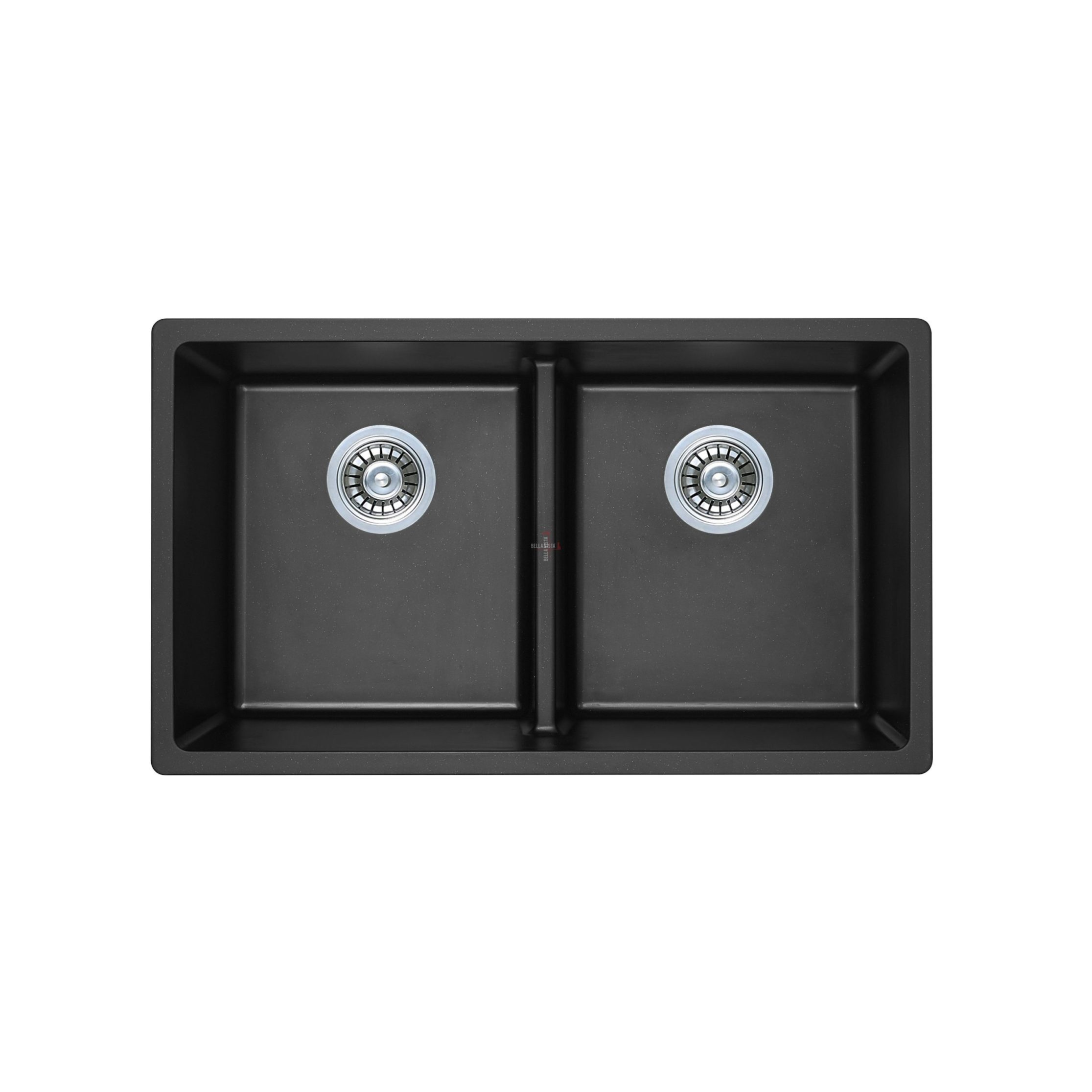 S7946DB-B Double Bowl Black Kitchen Sink 790 x 460mm