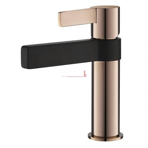 BM 14 RGBLK bella vista Shower Bath Mixer with Diverter Vivo Oro Rosa Black and Rose Gold