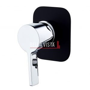 SHM 14 BLKCP bella vista Shower Bath Mixer Vivo Noir Black and Chrome