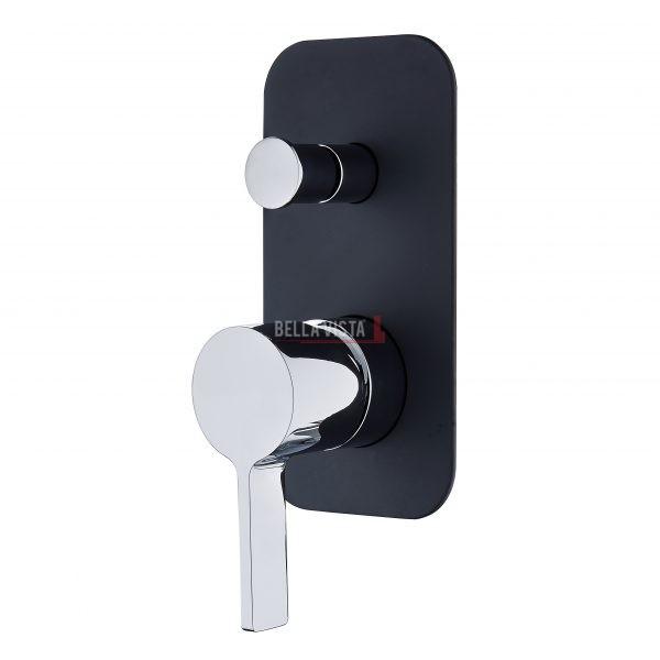 SHM 14 DV BLKCP bella vista Shower Bath Mixer with Diverter Vivo Noir Black and Chrome