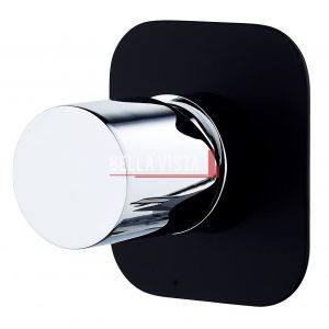 SHM 15 BLKCP bella vista Shower Bath Mixer Zenon Noir Black and Chrome