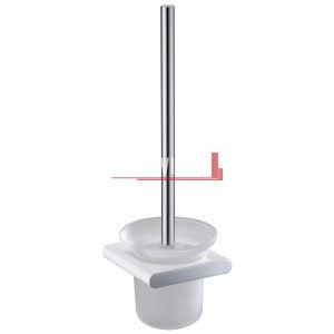 bella vista Toilet Brush and Holder Curved