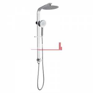 bella vista Dual Shower Rail with Rain Fall Head Wide round