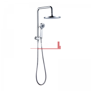 bella vista Dual Shower Rail with Rain Fall Head short round