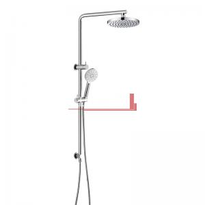 bella vista Dual Shower Rail with Rain Fall Head Single Hose Round