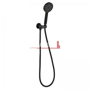 bella vista Handheld Round Shower Head with Wall Bracket black