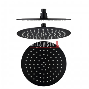 bella vista Shower Head Rainfall Stainless Round 250mm / 300mm Black
