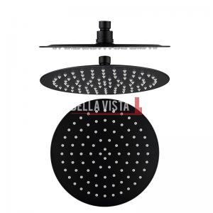 bella vista Shower Head Rainfall Stainless Round 250mm / 300mm Black