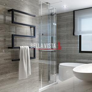 bella vista Towel Ladder STL / Z Style Square Design 1000 x 600mm Black