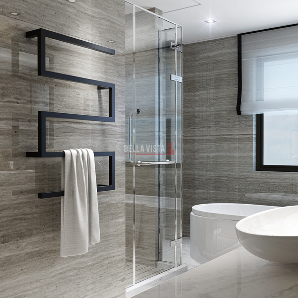 Towel Ladder - STL / Z Style Square Design - 1000 x 600mm - Black