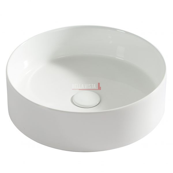 Bella Vista Round Ceramic Basin 400x120mm