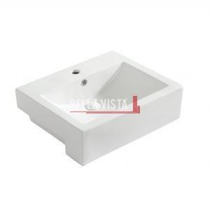 Semi Recessed Ceramic Basin 520x430x160mm