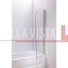 Bella Vista Fully Frameless Over Bath Every Day Single Swinging Bath Screen 750mm