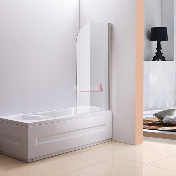 Bella Vista Fully Frameless Over Bath Every Day Single Swinging Bath Screen 750mm