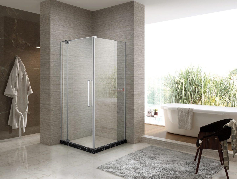 Adjustable Fully Frameless Shower Screen - Front and Return - Multiple Sizes